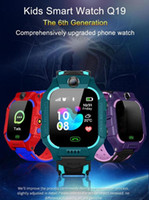 Wholesale smartwatches for kids for sale – best Q19 Smart Watch Wateproof Kids Smart Watch LBS Tracker Smartwatches SIM Card Slot with Camera SOS for Android iPhone Smartphones in Box