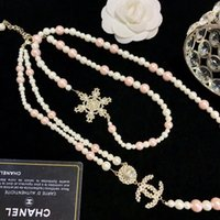 Wholesale perfect parties resale online - Top Copper Sweater Chain Luxury Design Necklace with High grade Glass Beads Woman Necklace Work Fine and Perfect Necklace Fashion Jewelry