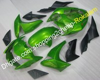 kits de carenado kawasaki del mercado de accesorios al por mayor-Piezas de carenado de motocicleta para Kawasaki Z1000 2007 2008 2009 Z 1000 07 08 09 Moto Green Black Aftermarket kit Carenados