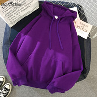 Wholesale korean high quality clothes for sale - Group buy Hoodies Women Trendy Printed Lovely Leisure Warm Clothing Womens Thicker Soft High Quality Student Hooded Korean Loose All match