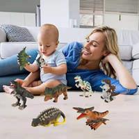 ingrosso regali di novità del bambino-Bambini Wind Up Dinosaur Gifts Novità Toy 12+ Assortiti Toys Toddlers Dinosaur Figure Partito Simulato Dinosauro Giocattoli modello