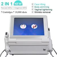 Wholesale portable ultrasound machine facial for sale - Group buy 5 Heads HIFU Portable High Intensity Focused Ultrasound HIFU Ultrasonic Facial Care Machine Anti wrinkle beauty equipment