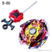 yeni beyler toptan satış-Yeni 4D Beyblade Patlama Oyuncaklar Arena Beyblades Toupie Metal Fusion Avec Lanceur Tanrı Dönen Top mücadele gyroToy B-86 B-92