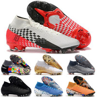 Wholesale beige lace boots for sale - Group buy Mens High Tops Football Boots Under The Radar Mercurial Superfly VII Elite FG Soccer Shoes Neymar ACC Superfly Outdoor Soccer Cleats