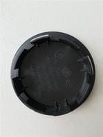 emblèmes vw noir achat en gros de-Insignes de voiture Moyeu roue VW Centre Cap Caps Couverture Badge Emblème Style De Voiture Noir pour Pour VW 55mm 56mm 65mm