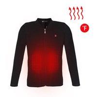 yüksek kalitede termal iç çamaşırı toptan satış-Yüksek Kaliteli erkek Ceket Isıtma Giyim Termal Iç Çamaşırı Karbon Fiber Elektrikli Isıtma USB Akıllı Elektrikli Giysiler Siyah
