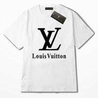 ropa de amante al por mayor-MensWomens T Shirts 2019 diseñador de verano ropa amantes de la moda de manga corta de algodón de lujo Streetwear Casual hombres mujeres camisetas camiseta tops