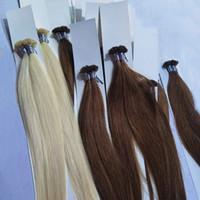 você inclina extensões de cabelo 1g venda por atacado-Elibess Brand - 120g ponta U em extensão de cabelo / 100% cabelo humano brasileiro / 1g por fio e 120s por lote
