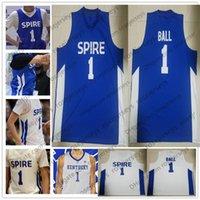 frauen basketball jerseys großhandel-LaMelo Ball High School Basketball no name Jersey Weiß Königsblau Kentucky Wildcats Männer Jugend Frauen Kinder Genäht S-4XL