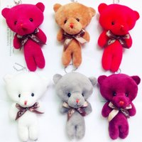 Wholesale wedding bears plush toys for sale - Group buy Plush Toys Pendants Wedding Etiquette Little Bears Toy Doll Multi Colors Child Hand Holding Toy Dolls bh L1