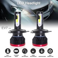 Wholesale conversion car resale online - 2pcs Super Mini H4 HB2 Car Headlight Bulbs W LM K Hi Lo COB LED Chips Conversion Kit Auto Head Light Lamp