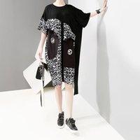 ingrosso vestito coreano del leopardo-Nuovo 2019 donne di stile coreano estate plus size abito leopardo o collo al ginocchio lunghezza femminile unico club party abiti streetwear F515