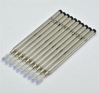 recarga de tinta metal al por mayor-10 unids / lote alta calidad negro / azul M 401 recargas de la pluma de tinta de metal para mb roller ball pen papelería 0.7 mm escribir accesorios de la pluma lisa M6