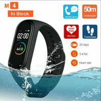 Wholesale uses monitor resale online - M4 Smart band Real Heart Rate Blood Pressure Wristbands Sport Smartwatch Monitor Health Fitness Tracker smart Watch Wristband PK M3