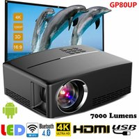 ingrosso proiettore wifi 3d android-Multimedia 4K 1080P WiFi Android Bluetooth Proiettore LED 3D Home Cinema 7000LM C