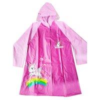 Unicorn Rosa Verdickter Drucken Pvc A06 Karton Regenkleidung Regenmantel Für Kind Wasserdichten Regenmäntel Kinder BoshdCrxtQ