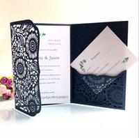 ingrosso festa fornisce perla-Biglietti per inviti di matrimonio con taglio laser orizzontale con carte RSVP Carta per invito di compleanno in carta per carta bianca per invito di compleanno