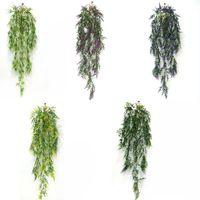 künstliche reben für wanddekor großhandel-Hängen Artificial Weizengras-Fälschungs-Grün Ivy Künstliche Pflanzen Rebe-Ausgangswand-Garten-Hochzeit Party Decor