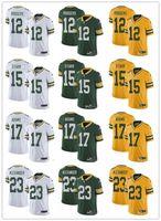 ingrosso maglia femminile 23-Gioventù femminile Green Bay 12 Aaron Rodgers 23 Jaire Alexander 17 Davante Adams 15 Bart Starr verde bianco Custom Packers maglie da calcio
