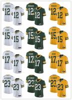 mulher jersey 23 venda por atacado-Juventude das mulheres dos homens Green Bay 12 Aaron Rodgers 23 Jaire Alexander 17 Davante Adams 15 Bart Starr verde branco personalizado Packers camisas de futebol