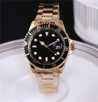caballeros de oro al por mayor-2018 Reloj para hombre De lujo de calidad superior Maestro Total de acero inoxidable Automático l Reloj de pulsera Gent's Gold Silver Black Reloj masculino de 40 mm.