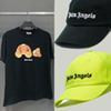 печать лучших футболок оптовых-Ладони Ангелов футболки шляпа мужчин лучшее качество разбитые медведь Палм Ангелы футболка с рисунком ладони Ангелов топ тройники