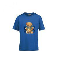 f8de9b9247 Oso T Camiseta linda Algodón puro Pretender Chica Niños Ropa para niños  Mangas cortas Blusa con efecto