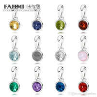 bfa715253 FAHMI 100% 925 Sterling Silver Charm NOVEMBER JANUARY JUNE MARCH DECEMBER  OCTOBER MAY APRIL AUGUST FEBRUARY JULY SEPTEMBER NECKLACE PENDANT