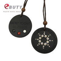 Wholesale scalar energy pendant for sale - Group buy Quantum Scalar Energy Pendant with Germanium Far Infrared Tourmaline Stone on back Ion Card