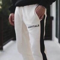 eski eşlemeler toptan satış-19SS Tanrı FOG Essentials Sweatpants Korkusu Vintage Renk Eşleştirme Splice Pantolon Moda Erkek Kadın Spor Pantolon Açık Spor HFYMKZ135