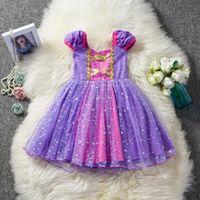 doğum günü kızı için süslü elbiseler toptan satış-Küçük Kız Elbise Çocuklar Parti Kostüm s Doğum Günü Kız Elbise Noel Cadılar Bayramı Fantezi Yıldız Çocuklar Olaylar Elbiseler KKA6842
