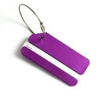 алюминиевый чемодан для багажа оптовых-Алюминиевый сплав багаж Теги чемодан дорожная сумка этикетки держатель имя карты ремни чемодан имя Пэт Теги AA116