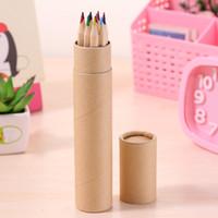 colored Lead Color drawing pencil wood Colour Pen Sets of 12 colours kids coloured draw pencils children epacket