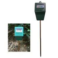 medidor de humedad de la planta probador al por mayor-100 unids / CTN Sonda Medidor de humedad del suelo de riego Precisión del suelo PH Tester Medidor de humedad Analizador Sonda de medición para flores de plantas de jardín