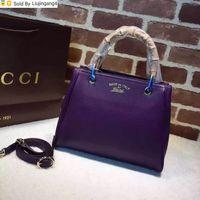 bolsa de equipaje púrpura al por mayor-Liujingang4 336032 Damas simple del color sólido del bolso mango de madera de color morado oscuro Mujeres top asas de la bolsa de Boston totalizadores mochilas equipaje