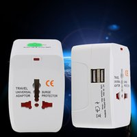 Wholesale universal world travel adaptor usb online – All in One Universal International Plug Adapter USB Port World Travel AC Power Charger Adaptor with AU US UK EU converter Plug