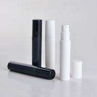kleine 5ml parfums großhandel-mini Plastiksprayduftstoffflasche kleiner Förderungsprobenschwarz-Duftstoffzerstäuber 2ml 3ml 4ml 5ml 100pcs / lot