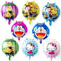 Wholesale doraemon cute cartoon for sale - Group buy 18inch Doraemon Balloons Kids Cartoon theme Birthday party decoration inflatable Latex helium foil palloncini Cute Hello Kitty Child toys