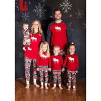 Wholesale mommy clothes sets for sale - Group buy Family Christmas Pajamas Set Warm Adult Kids Girls Boy Mommy Sleepwear Nightwear Mother Daughter Clothes Matching Family Outfits by hope12