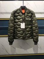 jaqueta de homem branco e verde venda por atacado-Moda roupas de Alta qualidade dos homens para baixo jaqueta Verde acolchoado ondulado Branco ganso para baixo Dos Homens Parkas