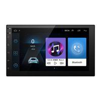 hyundai radio gps оптовых-Новый 7-дюймовый ультра тонкий Android 8.1 четырехъядерный автомобильный медиаплеер с GPS-навигатором для Nissan / Hyundai Все 2DIN ISO размер автомобильное головное устройство # 5437