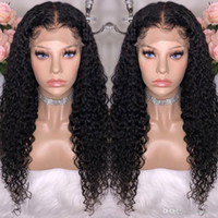 Wholesale black african wigs for sale - Group buy Malaysian Deep Curly High Temperature Wire Wig for Black Women Corn Long Curly African Black Fashion
