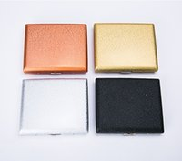 Wholesale new metal cigarette case resale online - New Luxurious Metal Frosted Cigarette Cases Shell Casing Storage Box High Quality Exclusive Design Portable Decorate Hot Cake DHL