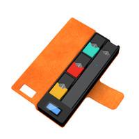 piles lcd achat en gros de-Date UOYO Portable Cas de charge pour Juul avec chargeur LCD indicateur de charge 1200mAh boîte de batterie pour Juul Vapor Pods Cartouche pour coco