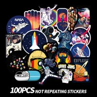 Wholesale waterproof decals motorcycle for sale - Group buy 100pcs SPACE KID series paster collection decals scrapbooking Kids Toy DIY Motorcycle Waterproof Stickers