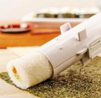 máquina de verduras al por mayor-Fabricante de sushi rodillo rodillo de molde sushi de rodillos Bazooka Arroz Carne Verduras Arroz DIY que hace la máquina de cocina sushi Herramientas