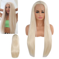 прямые длинные золотые парики оптовых-Hair Care Wig Stands Women's Fashion Wig Lady 24 inches Gold Long Straight Lace Front Hair Lace Net Comfortable Feb25