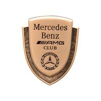 pegatina amg mercedes al por mayor-Mercedes E CLASE W212 W213 C CLASE W204 W205 GLC CLA GLA AMG LOGO BADGE EMBLEMA PUERTA DE AUTOMÓVILES PEGATINAS
