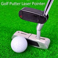 Wholesale Black Golf Putter Laser Pointer Putting Training Aim Line Corrector Improve Aid Tool Practice Golf Accessories