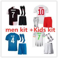 nome do jogo futebol venda por atacado-2019 2020 Juventus RONALDO kits de homens e crianças camisa de futebol 19 20 DYBALA DE LIGT HIGUAIN D. COSTA camisas de futebol crianças camisa de futebol